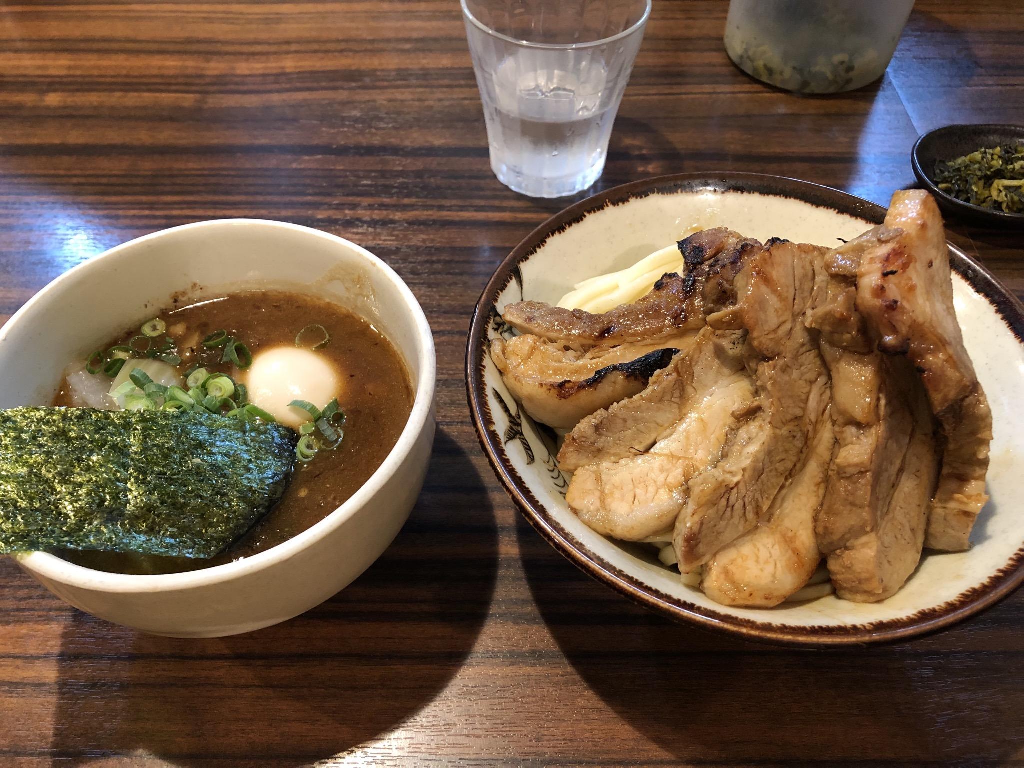 味玉炙りチャーシューつけ麺 バガボンド