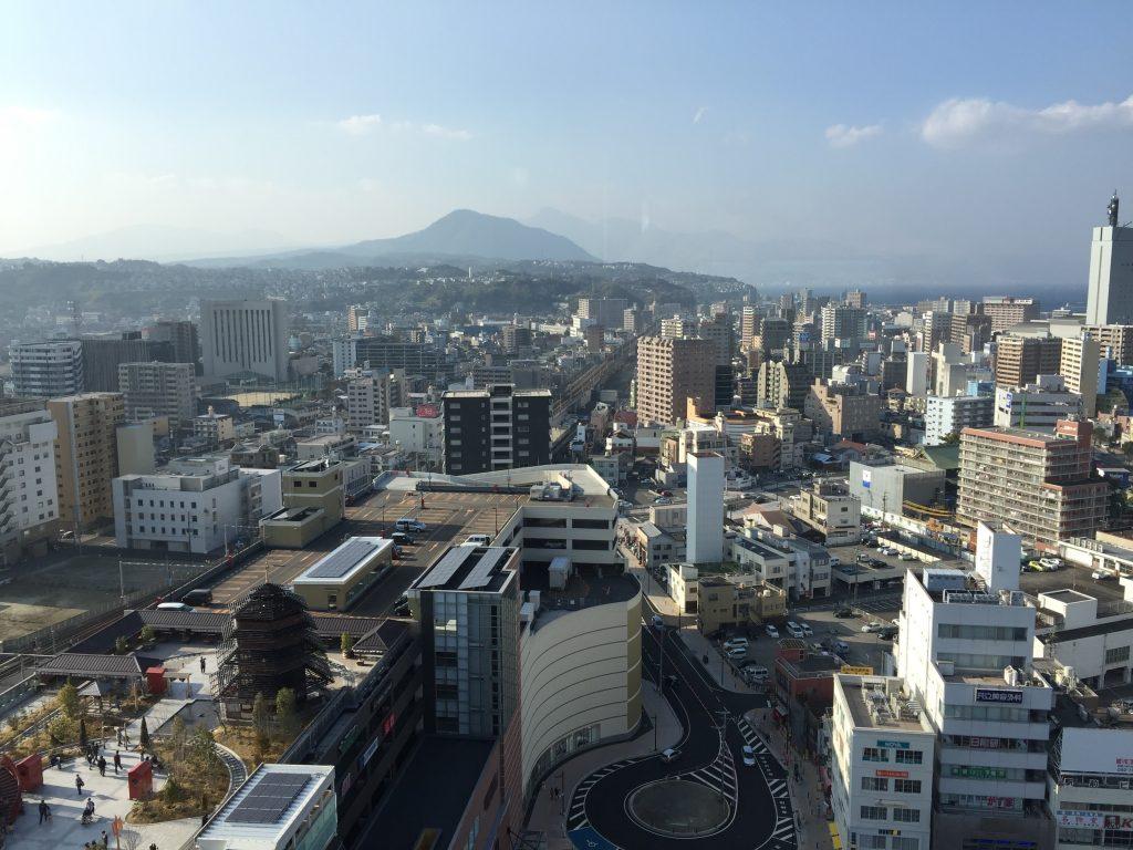 JRおおいたシティ CITY SPA てんくうからの眺め 大分県大分市